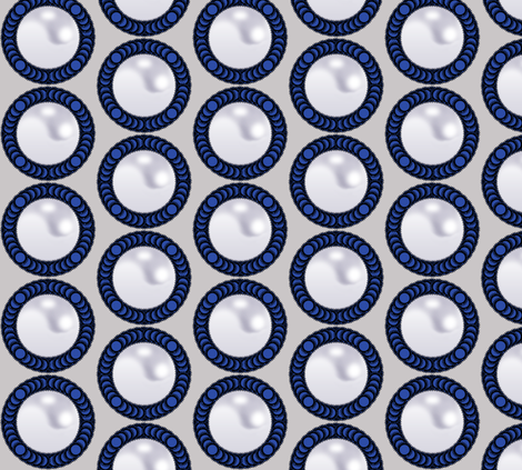 Pearl Cameo fabric by fridabarlow on Spoonflower - custom fabric