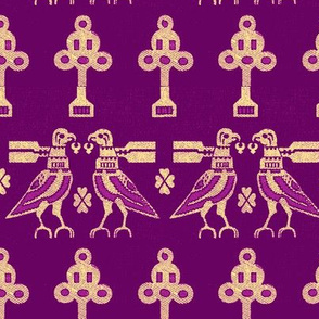 Medieval Birds- Purple
