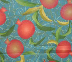 pomegranate on teal