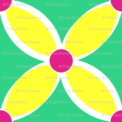 Neon Bright Yellow Petals
