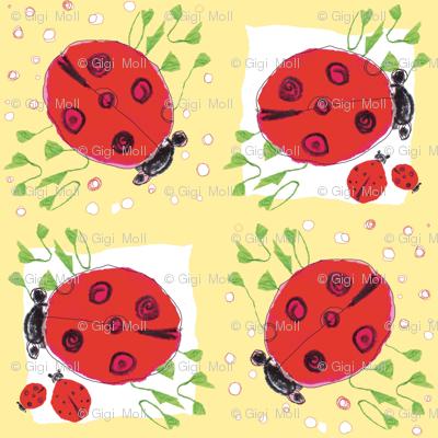 ladybug love_peach