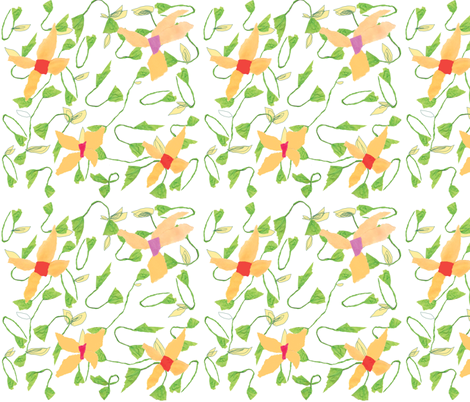 Paper flower collage  fabric by gigimoll on Spoonflower - custom fabric