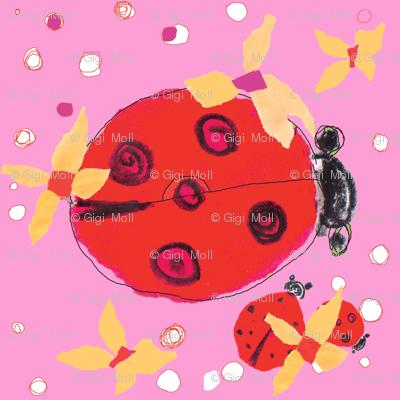 Ladybug love pink