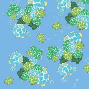Turtle party blue