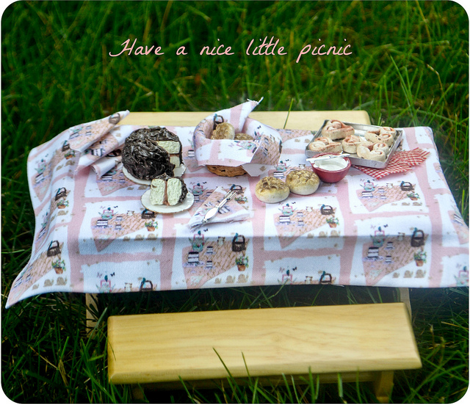 Picnic Tea, doll house collection