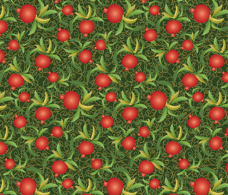abundant pomegranate fabric by kociara on Spoonflower - custom fabric