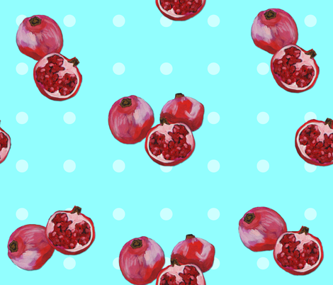 Marley's acrylic pomegranates fabric by marleyungaro on Spoonflower - custom fabric