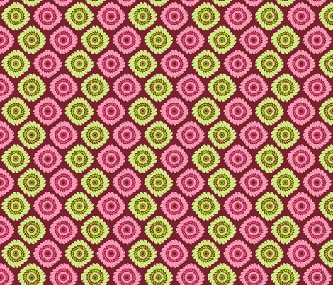pink and green abstract fabric by suziedesign on Spoonflower - custom fabric