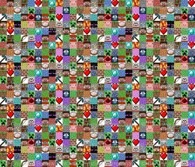 "Enhanced Minecraft Inspired 1.5"" Blocks Collage"