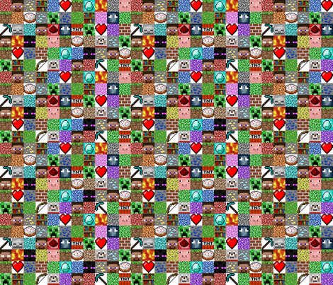 "Enhanced Minecraft Inspired 1.5"" Blocks Collage"