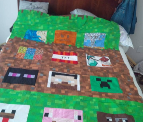 "Enhanced Minecraft Inspired 3"" Blocks Collage"