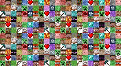 "Enhanced Minecraft Inspired 3"" Blocks Collage"