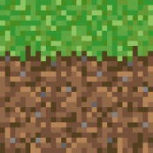 Pixelated Dirt and Grass