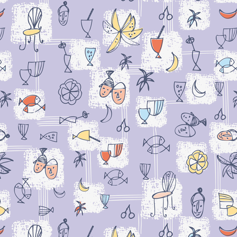 Dinner al fresco fabric by evamarion on Spoonflower - custom fabric