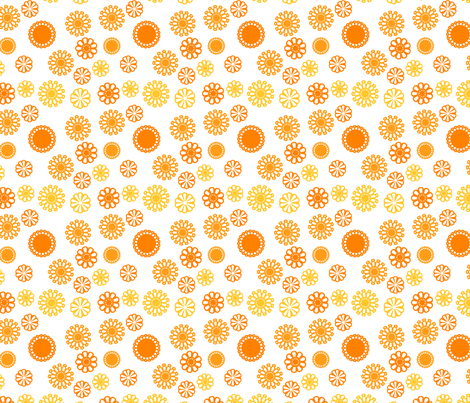 sunny flowers fabric by suziedesign on Spoonflower - custom fabric