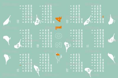 2014 redbreast calendar (green)