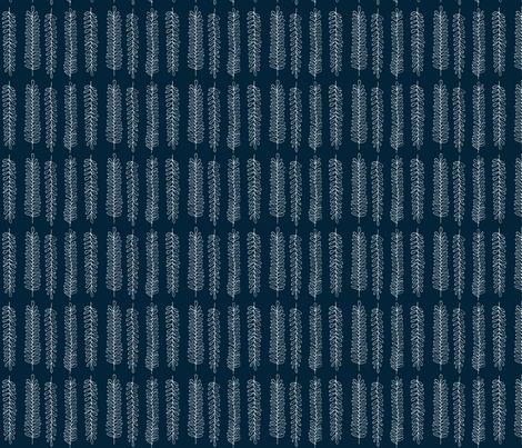 Leaves in Navy fabric by sophiebenoit on Spoonflower - custom fabric