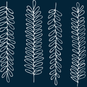 Leaves in Navy