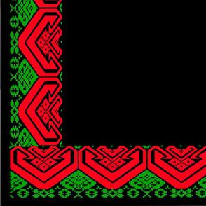 Heart, table cloth