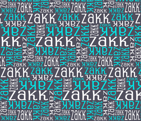 Personalised Name Fabric - Turquoise aniseed white fabric by shelleymade on Spoonflower - custom fabric