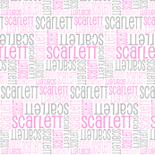 Personalised Name Fabric - Grey Pinks