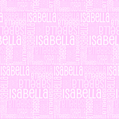 Personalised Name Fabric - Pink 3