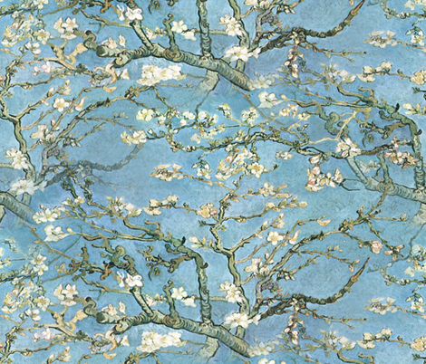 Vincent van Gogh ~ Branches of an Almond Tree in Blossom fabric by peacoquettedesigns on Spoonflower - custom fabric