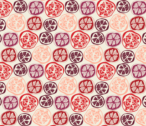 pick of the pomegranates fabric by lauriebaars on Spoonflower - custom fabric