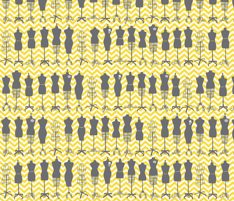 Haute Dressforms fabric by allisonkreftdesigns on Spoonflower - custom fabric