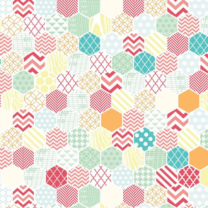 Honeycomb Multi Color Hexagons