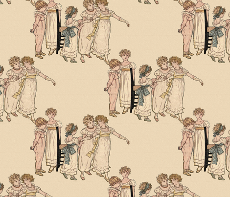 Kate Greenaway Dance fabric by peacoquettedesigns on Spoonflower - custom fabric