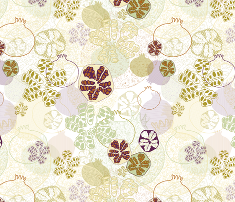 pomegranates - light fabric by maplewooddesignstudio on Spoonflower - custom fabric
