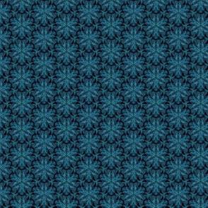 Jewel blue-green lace on black
