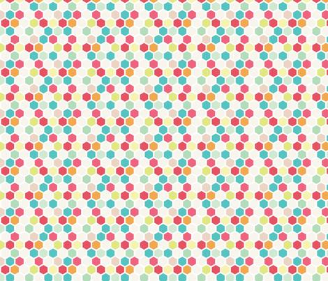 Multi Color Honeycomb fabric by allisonkreftdesigns on Spoonflower - custom fabric