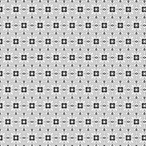 Small scale black & white offset geometric tiles