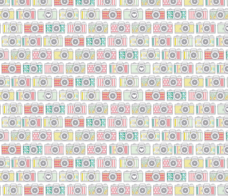 Mutli Pattern Camera Collection fabric by allisonkreftdesigns on Spoonflower - custom fabric