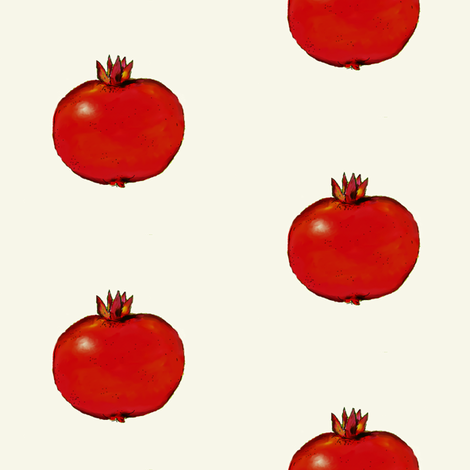 Pomegranate On White fabric by shirley_sipler on Spoonflower - custom fabric