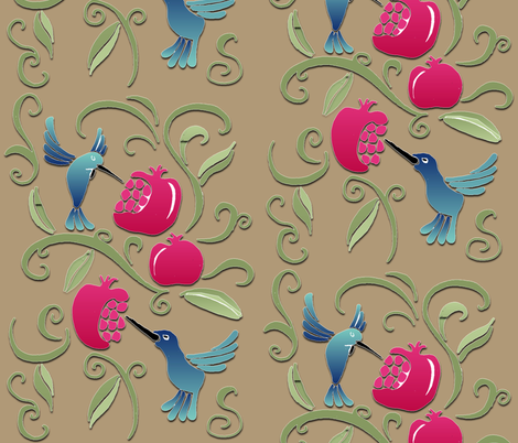 Poms & Hums fabric by dervishheart on Spoonflower - custom fabric