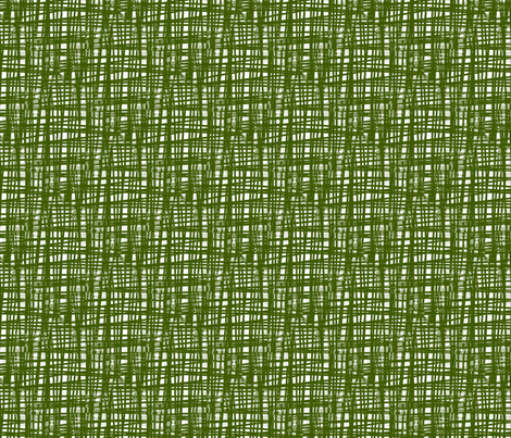 Green Crosshatch fabric by fussypants on Spoonflower - custom fabric