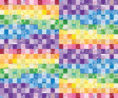 Rainbow Quilt (Small Scale)