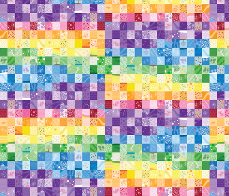 Rainbow Quilt (Small Scale) fabric by sew-me-a-garden on Spoonflower - custom fabric