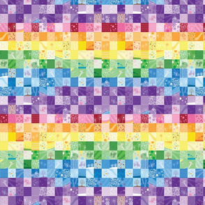 Rainbow Quilt (Small Scale - wave pattern)