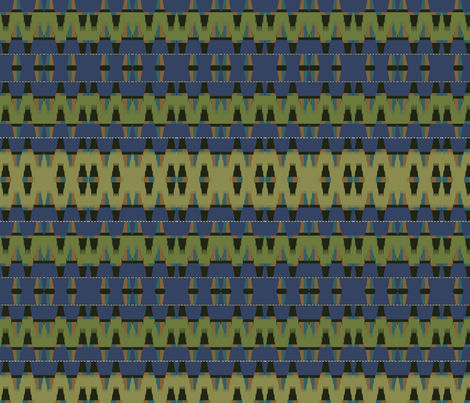 Lapis Teepee fabric by david_kent_collections on Spoonflower - custom fabric