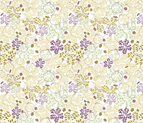 Pomes and Pips fabric by maplewooddesignstudio on Spoonflower - custom fabric