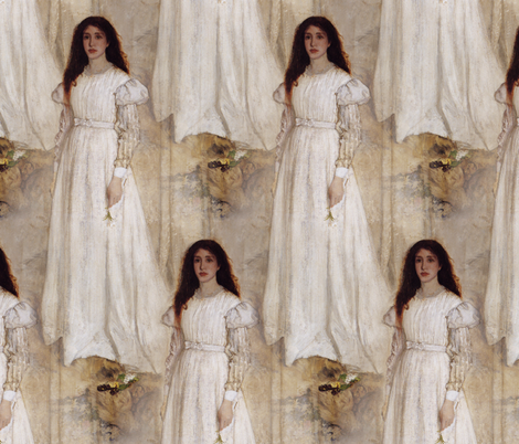 Symphony In White by Whistler fabric by peacoquettedesigns on Spoonflower - custom fabric