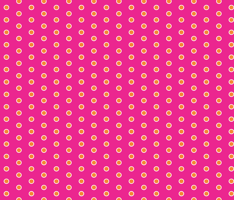 Frosty Mandarin Polka Dots on Hotpink
