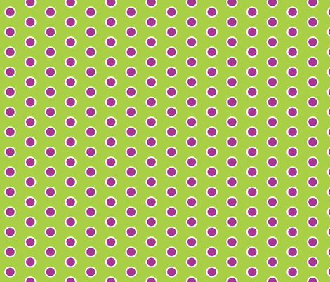Frosty Violet Polka Dot on Lime Green fabric by smuk on Spoonflower - custom fabric
