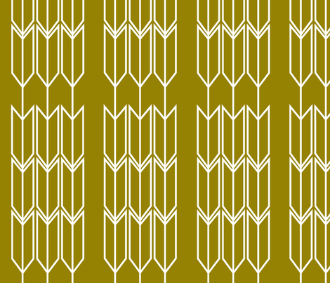 Green_Arrow fabric by designedtoat on Spoonflower - custom fabric