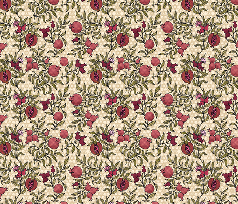 Rustic Pomegranate fabric by mutanthelianthus on Spoonflower - custom fabric