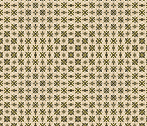 Rustic Tile #2 fabric by mutanthelianthus on Spoonflower - custom fabric
